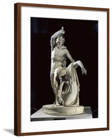 Marble Sculptural Group known as Galatian Suicide or Ludovisi Gaul Killing Himself and His Wife--Framed Art Print