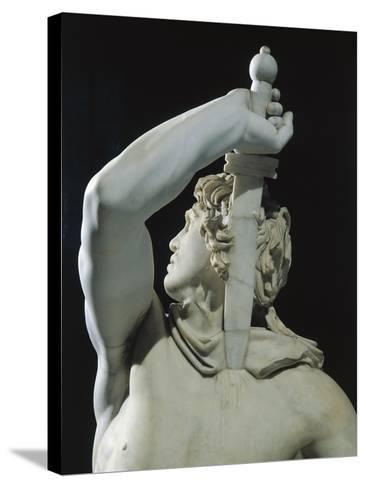 Marble Sculptural Group known as Galatian Suicide or Ludovisi Gaul Killing Himself and His Wife--Stretched Canvas Print