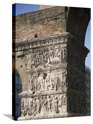 Reliefs Celebrating the Victories of Emperor Galerius Valerius Maximus over the Persians in 303--Stretched Canvas Print