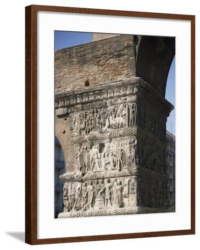 Reliefs Celebrating the Victories of Emperor Galerius Valerius Maximus over the Persians in 303--Framed Art Print