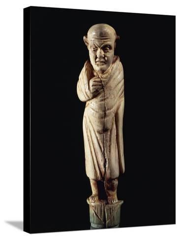 Roman Civilization. Bone-Handled Knife with Figure of Togaed Figure. from Graveyard at Forcella--Stretched Canvas Print