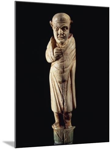Roman Civilization. Bone-Handled Knife with Figure of Togaed Figure. from Graveyard at Forcella--Mounted Giclee Print
