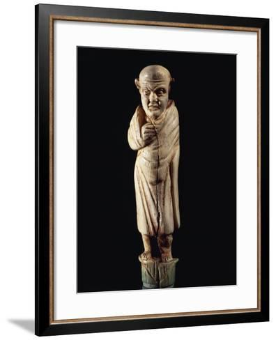 Roman Civilization. Bone-Handled Knife with Figure of Togaed Figure. from Graveyard at Forcella--Framed Art Print