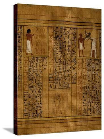 Portion of Book of Dead with Text in Vertical Columns of Hieroglyphs--Stretched Canvas Print