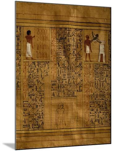 Portion of Book of Dead with Text in Vertical Columns of Hieroglyphs--Mounted Giclee Print
