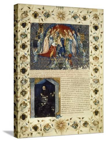 Illuminated Page from the Eulogy for Giangaleazzo Visconti by Michelino Da Besozzo--Stretched Canvas Print