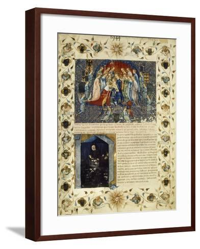 Illuminated Page from the Eulogy for Giangaleazzo Visconti by Michelino Da Besozzo--Framed Art Print