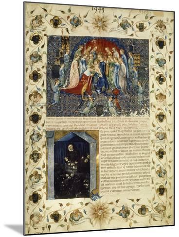 Illuminated Page from the Eulogy for Giangaleazzo Visconti by Michelino Da Besozzo--Mounted Giclee Print