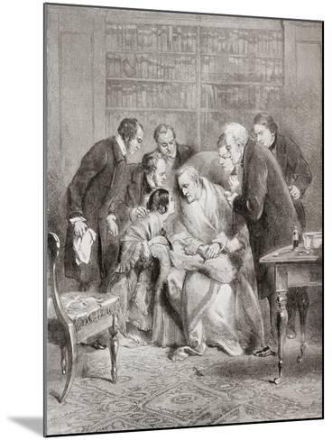 The Last Moments of the Duke of Wellington. Field Marshal Arthur Wellesley--Mounted Giclee Print
