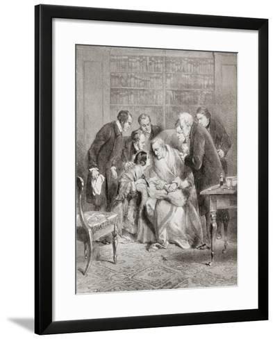 The Last Moments of the Duke of Wellington. Field Marshal Arthur Wellesley--Framed Art Print