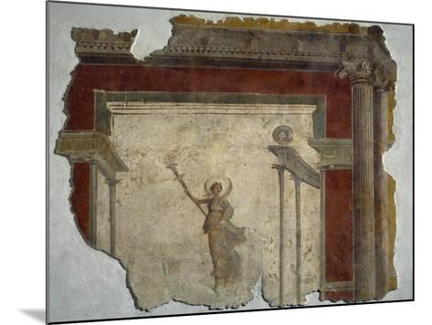 Diana Holding Up Lit Torch Fragment from North Wall of Domus in Piazza Sonnino--Mounted Giclee Print