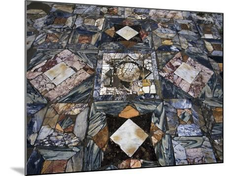 Detail of Polychrome Marble Floor of Room in House of the Waterfall--Mounted Giclee Print