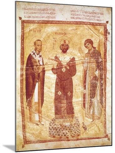 The Emperor Nicephorus Between Saint John Chrysostom and the Archangel Michael--Mounted Giclee Print