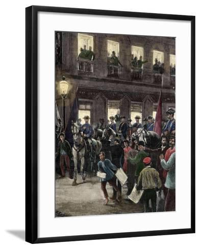 Patriotic Protest in the Seville Street About the Conflict of the Caroline Islands--Framed Art Print