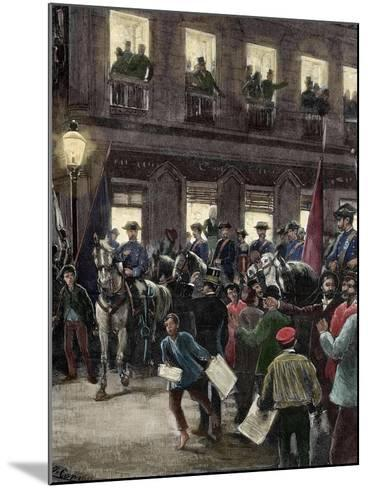 Patriotic Protest in the Seville Street About the Conflict of the Caroline Islands--Mounted Giclee Print