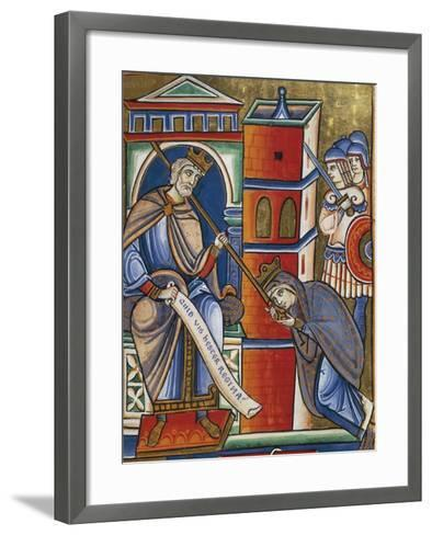 Stories of Esther: Esther at King Ahasuerus's Feet Advocating the Cause of the Jews--Framed Art Print
