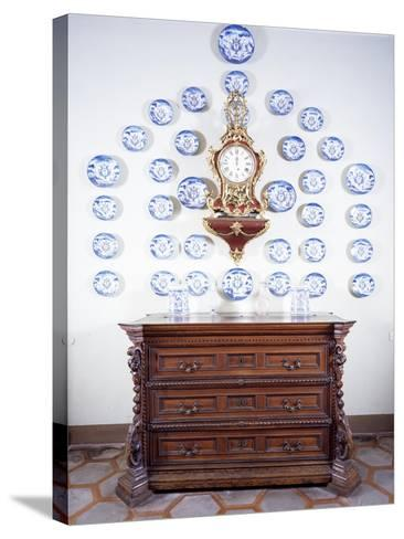 Glimpse of Dining Room with Large Late 17th Century Chest of Drawers--Stretched Canvas Print
