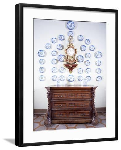 Glimpse of Dining Room with Large Late 17th Century Chest of Drawers--Framed Art Print