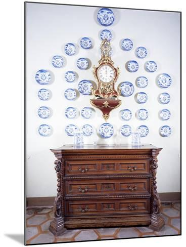 Glimpse of Dining Room with Large Late 17th Century Chest of Drawers--Mounted Giclee Print