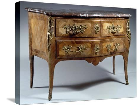 Louis XV Style Chest of Drawers in Tulipwood and Rosewood with Veneer Finish--Stretched Canvas Print