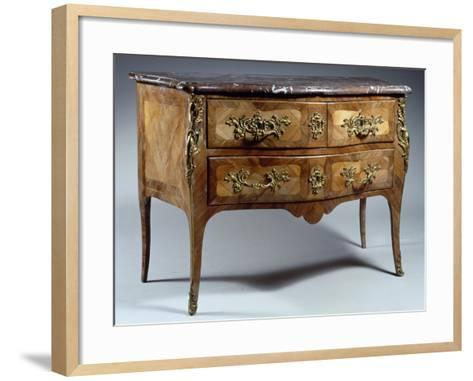 Louis XV Style Chest of Drawers in Tulipwood and Rosewood with Veneer Finish--Framed Art Print
