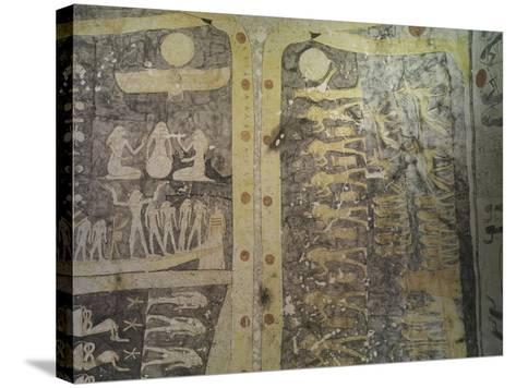 Tomb of Ramses IX, Mural Paintings Representing Book of Caverns in Funerary Room--Stretched Canvas Print