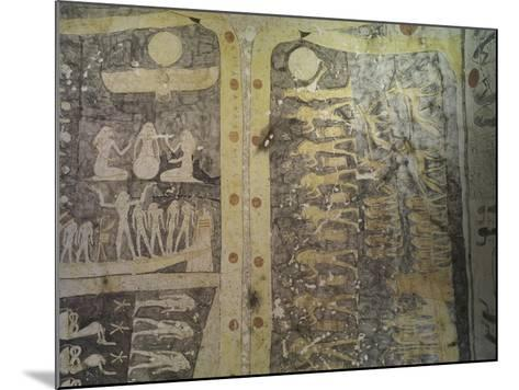 Tomb of Ramses IX, Mural Paintings Representing Book of Caverns in Funerary Room--Mounted Giclee Print