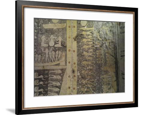 Tomb of Ramses IX, Mural Paintings Representing Book of Caverns in Funerary Room--Framed Art Print