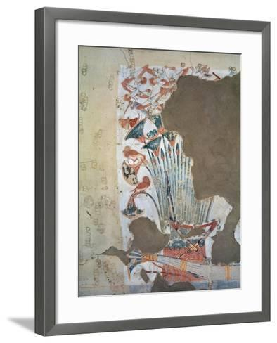 Tomb of Scribe of Recruits Horemheb, Mural Paintings of Papyrus Plants and Birds--Framed Art Print