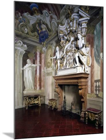 Glimpse of Room of Strong Women with Frescoes by Giovanni Bolla and Leonardo Clerici--Mounted Giclee Print