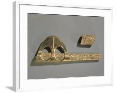 Gold Axe Decorated with Geometric Patterns and Relief Depicting Enkidu and Gilgamesh--Framed Art Print