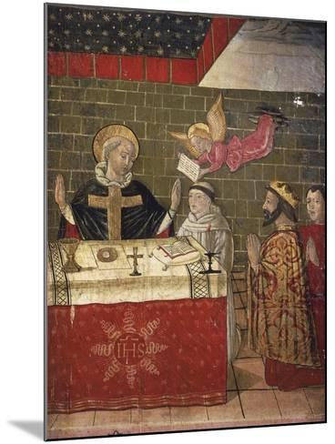 The Mass Celebrated by St Eligius in the Presence of King Dagobert I--Mounted Giclee Print