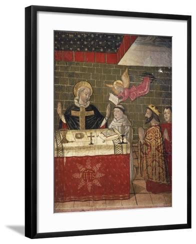 The Mass Celebrated by St Eligius in the Presence of King Dagobert I--Framed Art Print