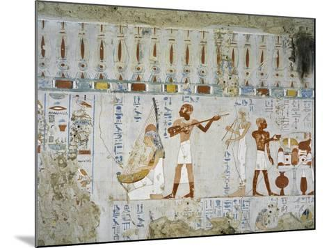 Tomb of Scribe and Granary Accountant at Amon's Estate Amenemhat, Mural Paintings of Musicians--Mounted Giclee Print