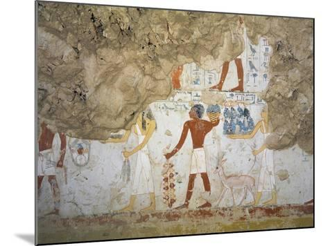 Mural Paintings Showing Votive Offerings in Tomb of Scribe and Granary Accountant--Mounted Giclee Print