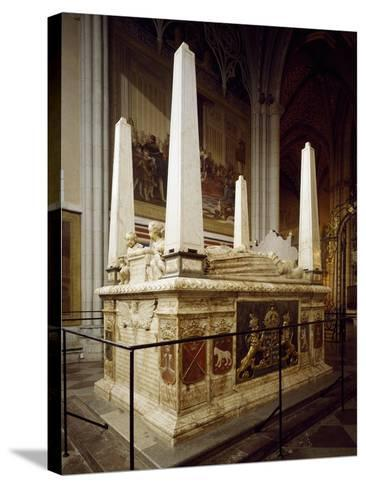 Grave Monument for Gustav Vasa and His First Wives Catherine of Lauenburg--Stretched Canvas Print