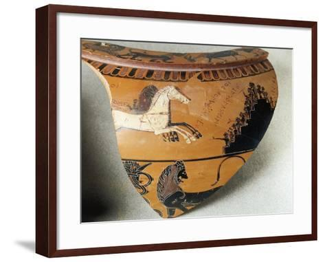 Fragment of Dinos--Framed Art Print