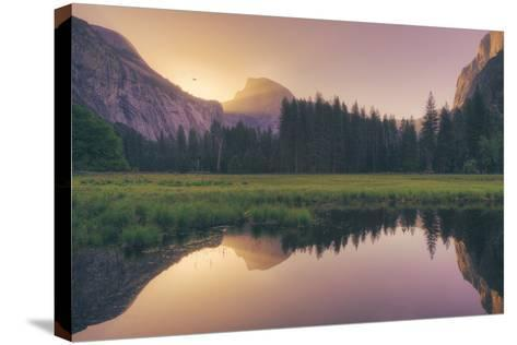 Magical Morning Light at Half Dome - Yosemite Valley-Vincent James-Stretched Canvas Print