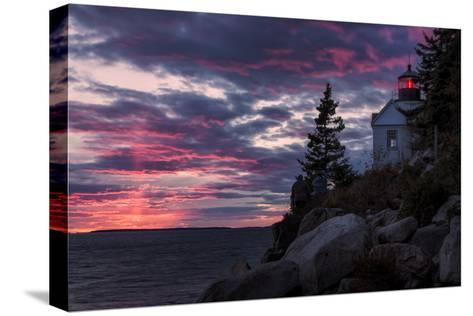 Magical Sunset at Bass Harbor Lighthouse, Maine-Vincent James-Stretched Canvas Print