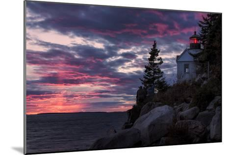 Magical Sunset at Bass Harbor Lighthouse, Maine-Vincent James-Mounted Photographic Print