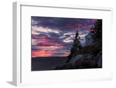 Magical Sunset at Bass Harbor Lighthouse, Maine-Vincent James-Framed Art Print