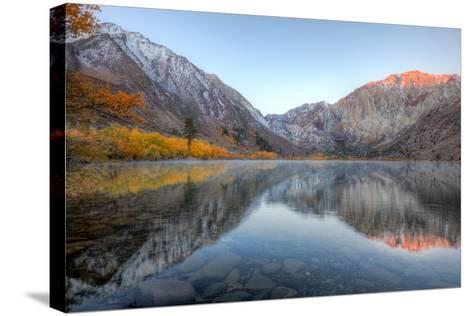 Autumn Morning, First Light, Convict Lake, Sierra Nevada-Vincent James-Stretched Canvas Print