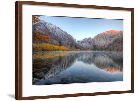 Autumn Morning, First Light, Convict Lake, Sierra Nevada-Vincent James-Framed Art Print