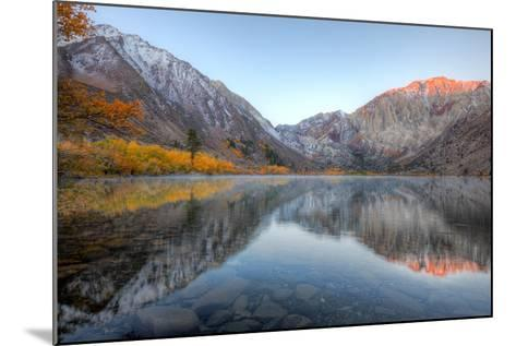 Autumn Morning, First Light, Convict Lake, Sierra Nevada-Vincent James-Mounted Photographic Print