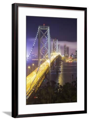 Road Into The City, Bay Bridge - San Francisco-Vincent James-Framed Art Print