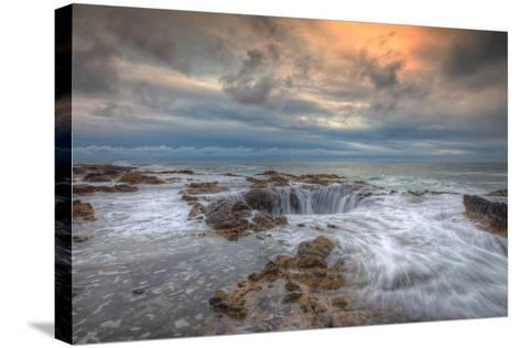 Standing at Thor's Well, Oregon Coast-Vincent James-Stretched Canvas Print