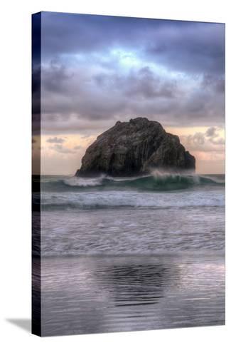 Sunset at Face Rock, Bandon, Oregon Coast-Vincent James-Stretched Canvas Print