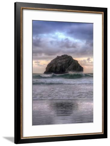 Sunset at Face Rock, Bandon, Oregon Coast-Vincent James-Framed Art Print