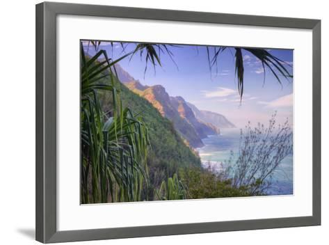 The Magnificent Na Pali Coast, Kauai Hawaii-Vincent James-Framed Art Print