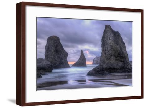 Ethereal Bandon Seascape, Oregon Coast-Vincent James-Framed Art Print